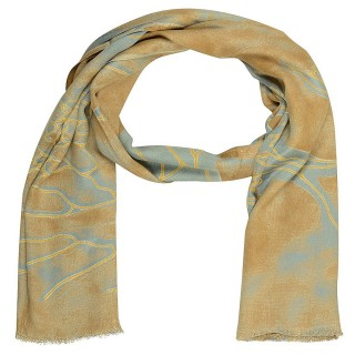 Brown Color Digital Printed Stole